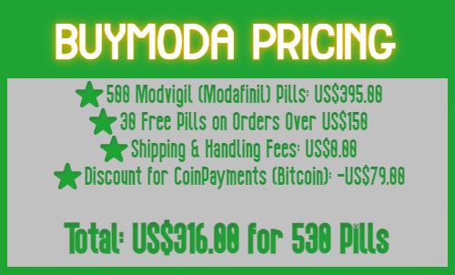 Pricing Table for Modvigil Discounts   BuyModa Modafinil Pricing