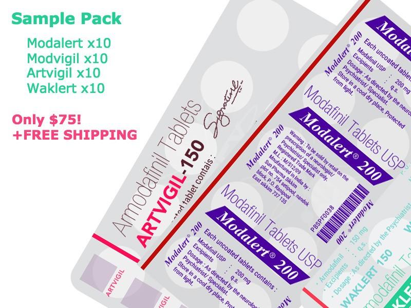Provigil modafinil sample pack